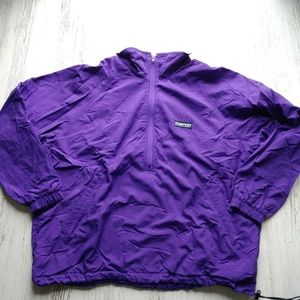 and End Vintage Men's Windbreaker Jacket 1/2 Zip